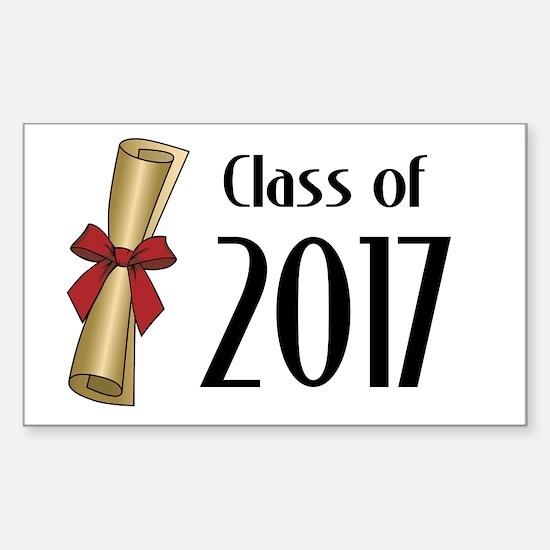 Class of 2017 Diploma Sticker (Rectangle)