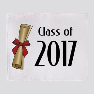 Class of 2017 Diploma Throw Blanket