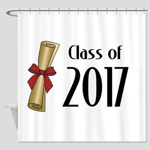 Class of 2017 Diploma Shower Curtain