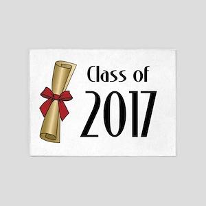 Class of 2017 Diploma 5'x7'Area Rug