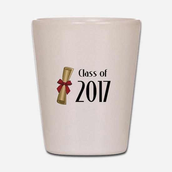 Class of 2017 Diploma Shot Glass