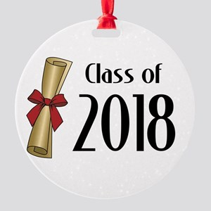 Class of 2018 Diploma Round Ornament