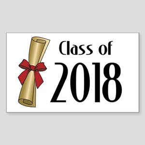 Class of 2018 Diploma Sticker (Rectangle)