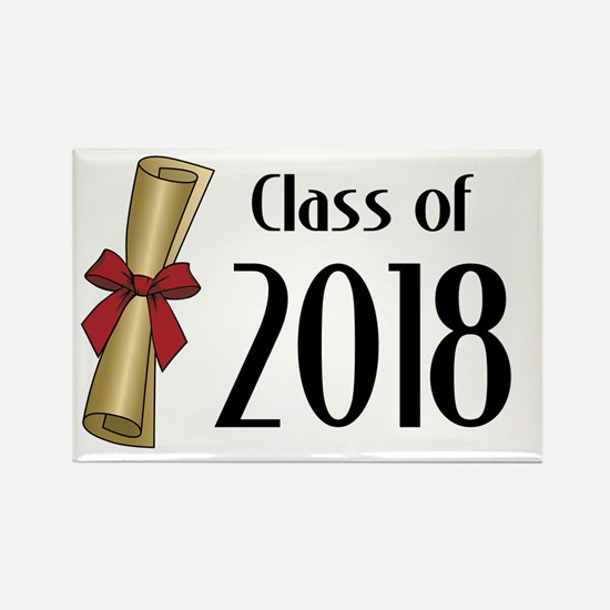 Class of 2018 Diploma Rectangle Magnet