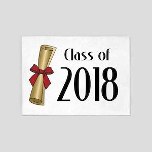 Class of 2018 Diploma 5'x7'Area Rug