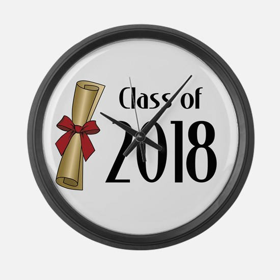 Class of 2018 Diploma Large Wall Clock