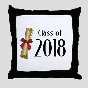 Class of 2018 Diploma Throw Pillow