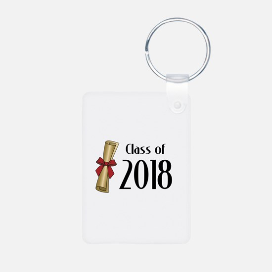 Class of 2018 Diploma Aluminum Photo Keychain