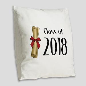 Class of 2018 Diploma Burlap Throw Pillow