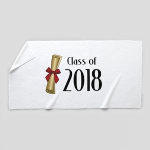 Class of 2018 Diploma Beach Towel