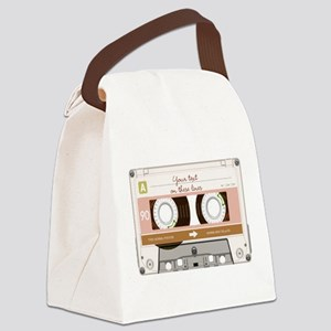 Cassette Tape - Tan Canvas Lunch Bag