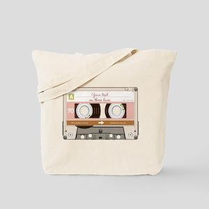 Cassette Tape - Tan Tote Bag