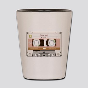 Cassette Tape - Tan Shot Glass