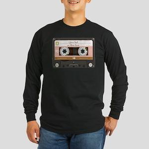 Cassette Tape - Tan Long Sleeve Dark T-Shirt