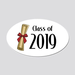 Class of 2019 Diploma 20x12 Oval Wall Decal
