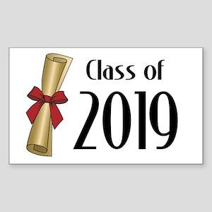 Class of 2019 Diploma Sticker (Rectangle)
