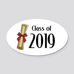 Class of 2019 Diploma Oval Car Magnet