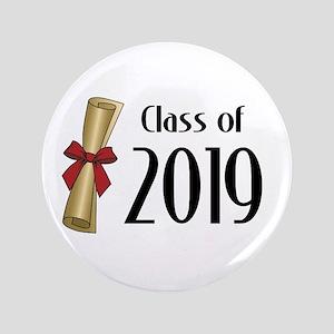 "Class of 2019 Diploma 3.5"" Button"