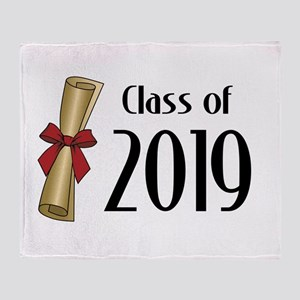 Class of 2019 Diploma Throw Blanket
