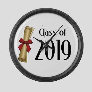 Class of 2019 Diploma Large Wall Clock