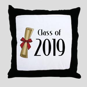 Class of 2019 Diploma Throw Pillow