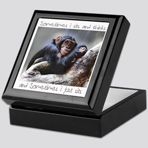 Monkey Sits Keepsake Box