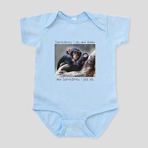 Monkey Sits Infant Bodysuit