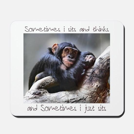 Monkey Sits Mousepad