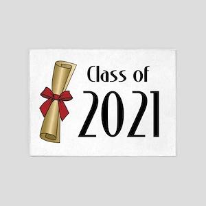 Class of 2021 Diploma 5'x7'Area Rug
