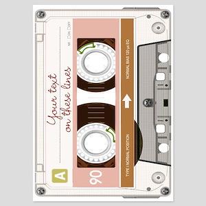 Cassette Tape - Tan 5x7 Flat Cards