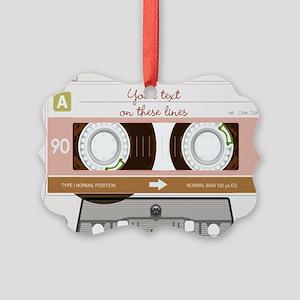 Cassette Tape - Tan Picture Ornament