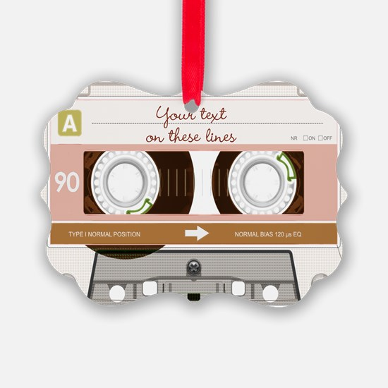 Cassette Tape - Tan Ornament