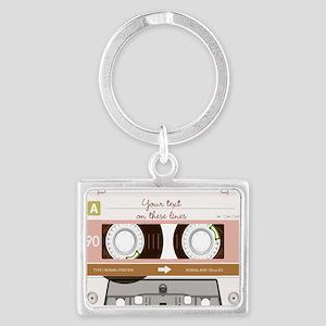 Cassette Tape - Tan Landscape Keychain
