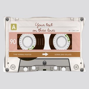 Cassette Tape - Tan Pillow Case