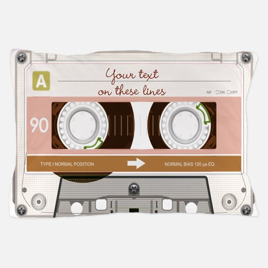Cassette Tape - Tan Pillow Case