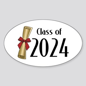 Class of 2024 Diploma Sticker (Oval 50 pk)