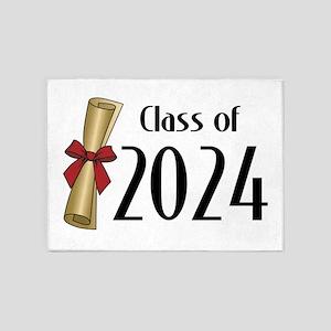 Class of 2024 Diploma 5'x7'Area Rug
