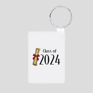 Class of 2024 Diploma Aluminum Photo Keychain