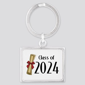 Class of 2024 Diploma Landscape Keychain