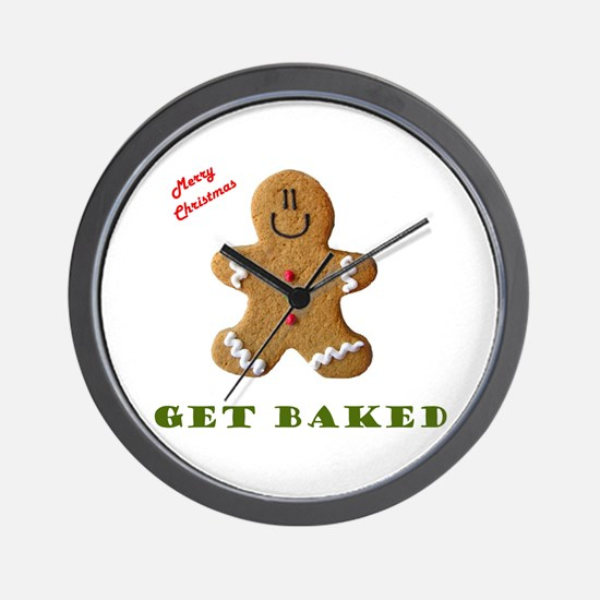 Get Baked Gingerbread Man Wall Clock