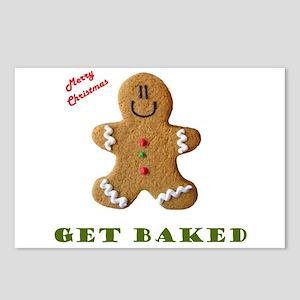 Get Baked Gingerbread Man Postcards (Package of 8)