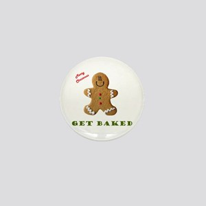 Get Baked Gingerbread Man Mini Button