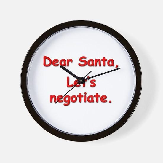 """Let's Negotiate."" Wall Clock"