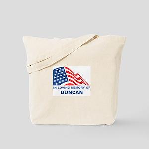 Loving Memory of Duncan Tote Bag