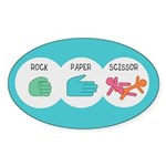 Rock Paper Scissor Sticker (Oval)