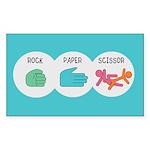 Rock Paper Scissor Sticker (Rectangle)