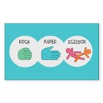 Rock Paper Scissor Sticker (Rectangle)