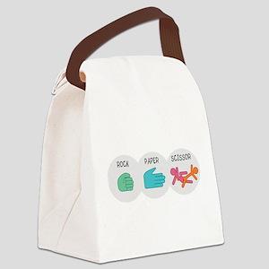 Rock Paper Scissor Canvas Lunch Bag