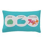 Rock Paper Scissor Pillow Case