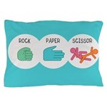 Rock Paper Scissor Pillow Case